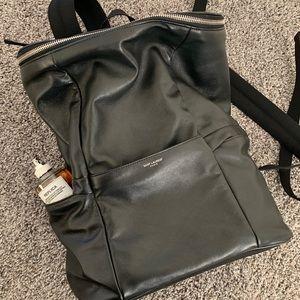 Pristine Saint Laurent 'Sid' Lambskin backpack